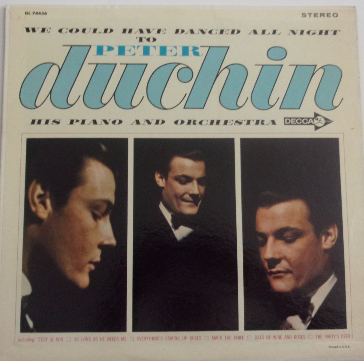 Peter Duchin We Could Have Danced All Night LP DL 74436 Pop