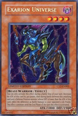 Limited Edition EXARION UNIVERSE Holofoil Card Ct2-En002 FREE SHIPPING