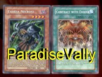 EXODIA NECROSS WITH CONTRACT BOTH MINT YU-GI-OH CARDS