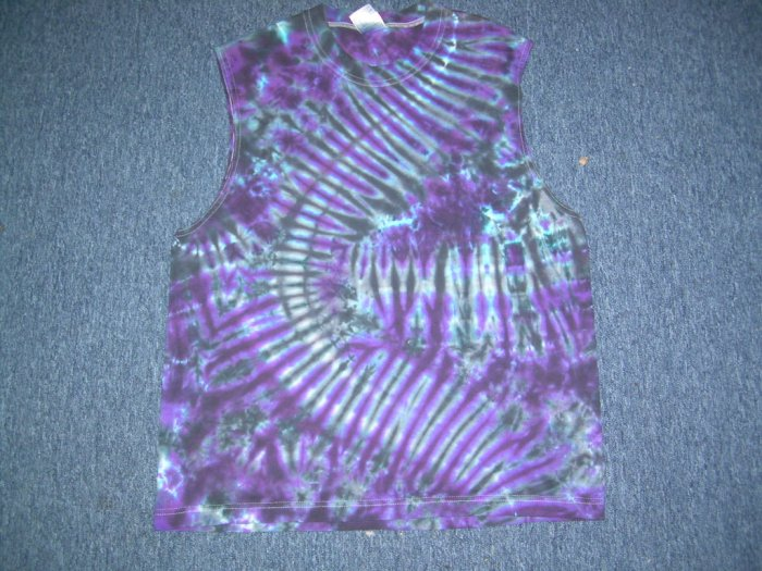 Tie Dye Sleeveless T-Shirt Large #2