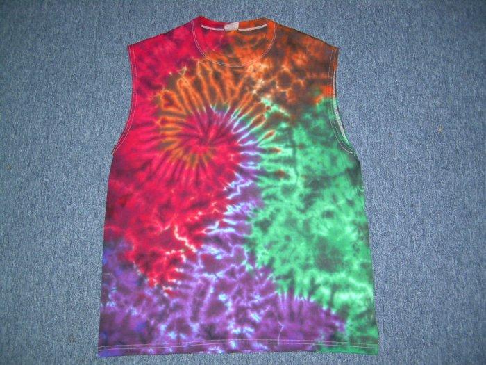 Tie Dye Sleeveless T-Shirt Large #5