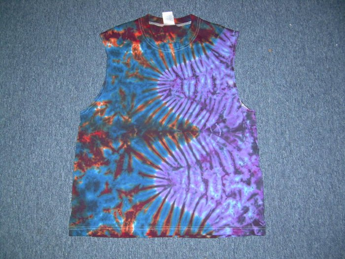 Tie Dye Sleeveless T-Shirt Large #9