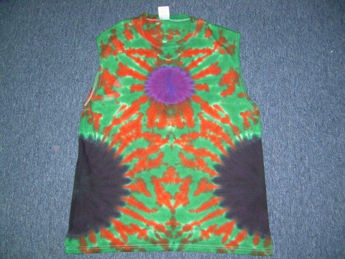 Tie Dye Sleeveless T-Shirt Large #10