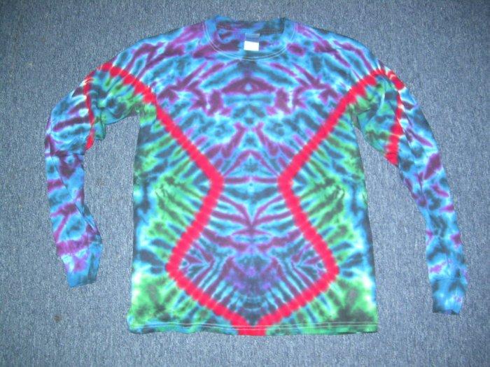 Mens Long Sleeve Tie Dye Shirt Medium #2