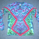 Mens Long Sleeve Tie Dye Shirt Medium #2