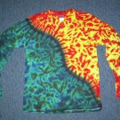 Mens Long Sleeve Tie Dye Shirt Medium #4