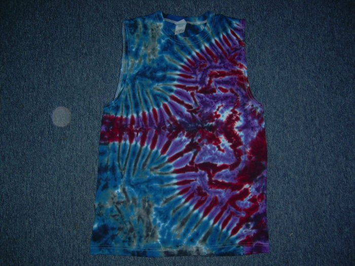 Tie Dye Sleeveless T-Shirt Medium #9