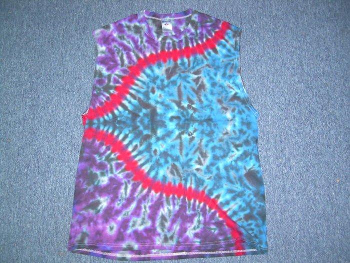 X-Large Sleeveless Tie Dye T-Shirt #6