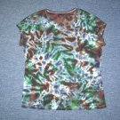 Womens Tie Dye Scoop Neck T -Shirt X-Large #2
