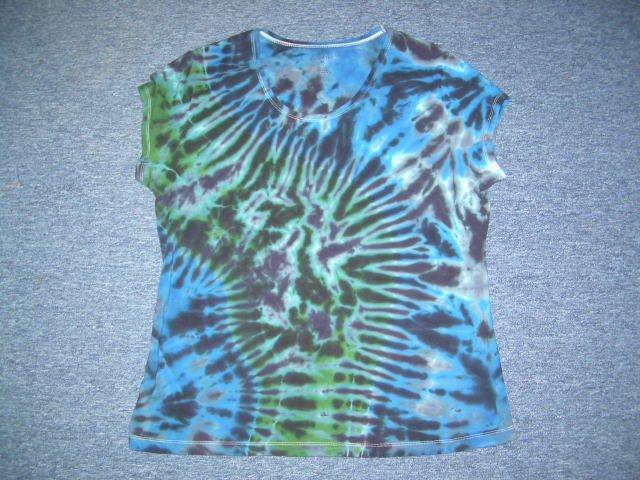 Womens Tie Dye Scoop Neck T -Shirt X-Large #4