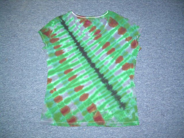 Womens Tie Dye Scoop Neck T -Shirt X-Large #7