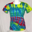 Womens Tie Dye Scoop Neck T -Shirt Medium #1