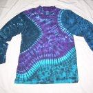 Tie Dye Men's Long Sleeve 3 Button Henley Medium #4