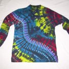Tie Dye Men's Long Sleeve 3 Button Henley Medium #6