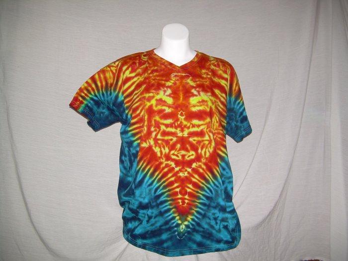 X-Large V-Neck Womens Tie Dye T-Shirt  #1