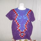 Large Womens Short Sleeve Tie Dyed T-Shirt #1
