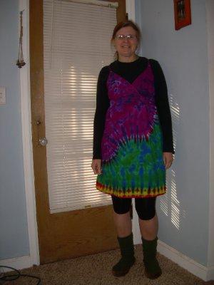 Size 10 Surplice Dress Womens Tie Dye #03