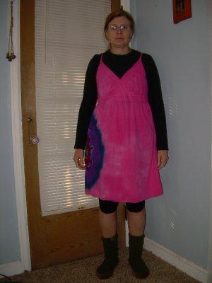 Size 14 Surplice Dress Womens Tie Dye #01