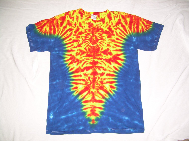 Large Mens Short Sleeve Tie Dye T-Shirt  #65