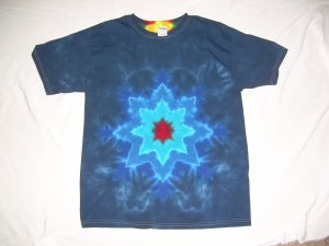 Large Mens Short Sleeve Tie Dye T-Shirt  #71