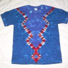 Large Mens Short Sleeve Tie Dye T-Shirt  #75