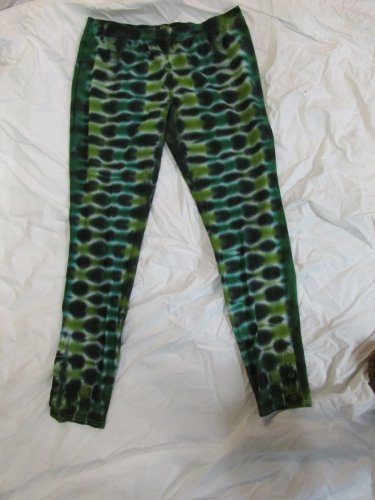 Womens Large (11-13) Stretch Leggings Tie Dye #05