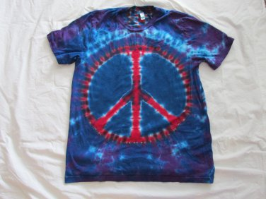 Large Mens Short Sleeve Tie Dye T-Shirt USA Made #82