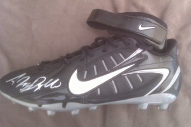 Antrel Rolle NFL New York Giants Signed Sz 13 Cleat Game Issued W/COA