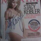 Stacey Keibler Autographed Maxim Magazine 2009 W/COA