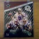 Tri Signed 8x10 Unframed Photo By 3 Dallas Cowboys. Tony Romo, Terrell Owens & Julius Jones. W/COA