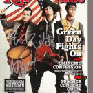 Green Day Signed Rolling Stone Magazine May 2009 Unframed w/COA