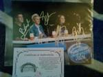 American Idol Judges Autographed Unframed 8x10 Photo X4 Ellen, Simon Cowell, +2 W/COA