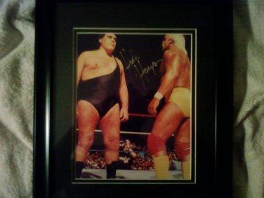 Hulk Hogan WWE SuperStar Signed Unframed 8x10 Photo w/Andre The Giant (NOT SIGNED) W/COA.