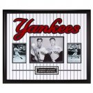 "Yankee Legends in Pinstripes"" DiMaggio & Mantle Duel Auto Amazing DBL Matting & Frame w/COA"