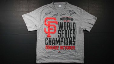 Rare 1/1 2014 San Francisco Giants Multi Autographed World Series Champions Shirt
