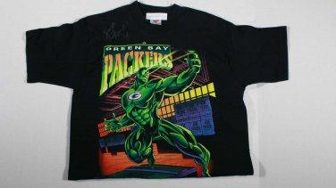 Brett Favre Autographed T-Shirt NFL Green Bay Packers Sz L No COA