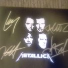 Metallica 8x10 Photo Signed x4 Hetfeild, Lars, Hammett, Newsted x4. w/COA