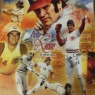 "11x14 Autographed photo Pete Rose Inscribed ""4256"" w/COA"