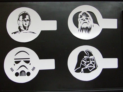 Star Wars Cookie Coffee Latte Cupcake Stencil Duster Set Of 4