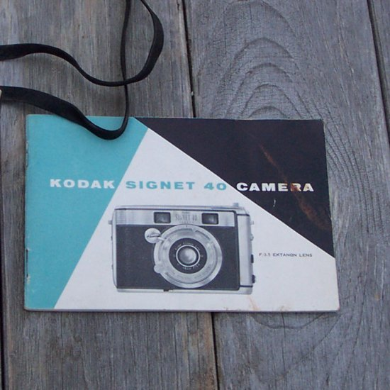 Manual for Kodak Signet 40 Camera