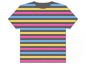 Hearts - Pink/Yellow/Blue