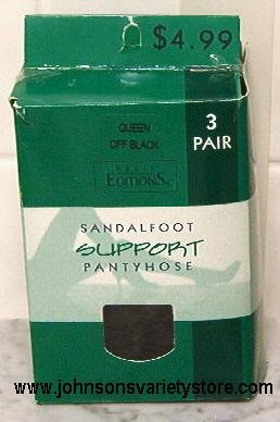 Basic Editions Sandalfoot Support Pantyhose(3 pair)
