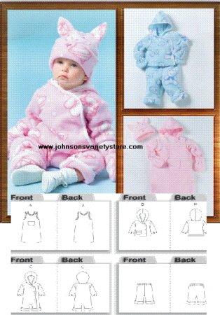 Butterick 4333 Infants Bunting, Jacket, Pants, Hat