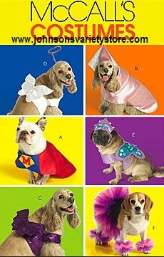 McCall's 5502 PET COSTUMES sewing pattern
