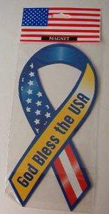 """""""GOD BLESS THE USA"""" AMERICAN FLAG MAGNET - Lg"""
