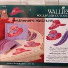 SASSY HATS Wallies Wallpaper Cutouts RED HAT CLUB