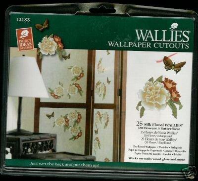 SILK FLORAL and Butterflies Wallies Wallpaper Cutouts
