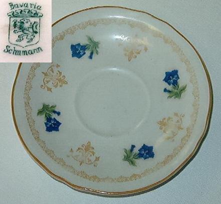 Schumann Bavaria round ceramic dish - Rare Pattern