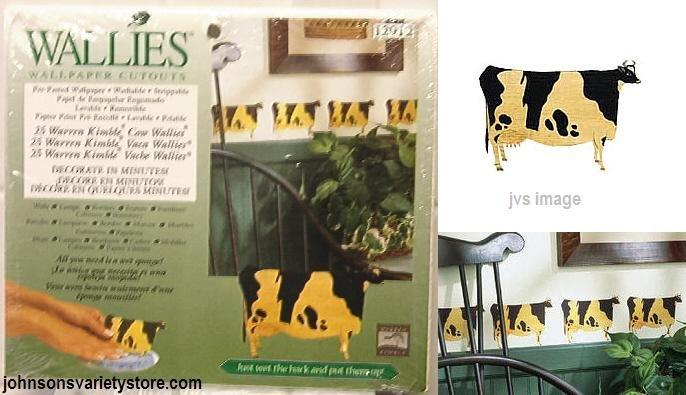 Wallies Warren Kimble FOLK ART COWS Wallpaper Cutouts