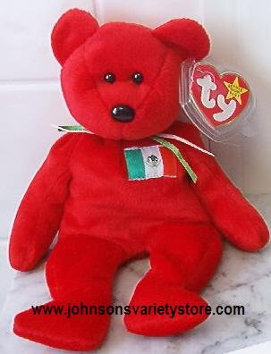 "Ty beanie baby ""OSITO"" MEXICO BEAR - Retired"